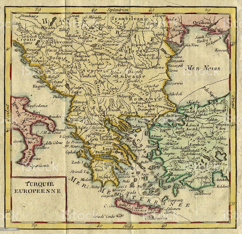 Cartina Della Grecia Antica In Italiano.Antica Mappa Della Grecia E Occidentale Anatolia Fotografie Stock E Altre Immagini Di Anatolia Istock