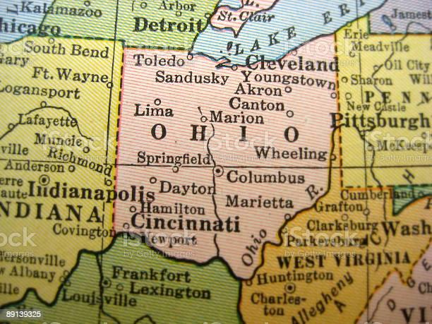 Antique Map Ohio