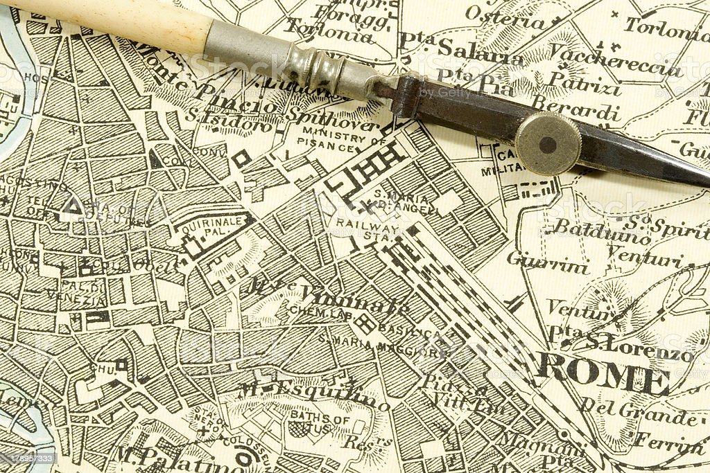 Antique Map stock photo