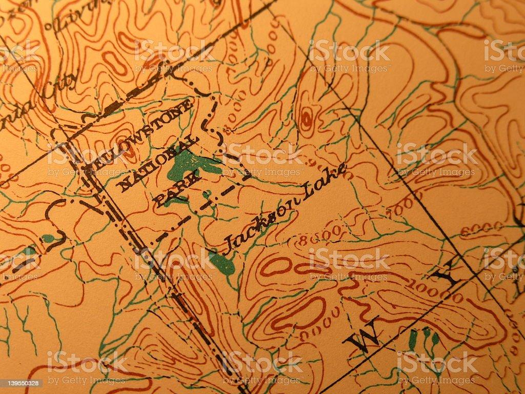 Yellowstone Karte.Antike Karte Yellowstone National Park Und Jackson Hole Stockfoto