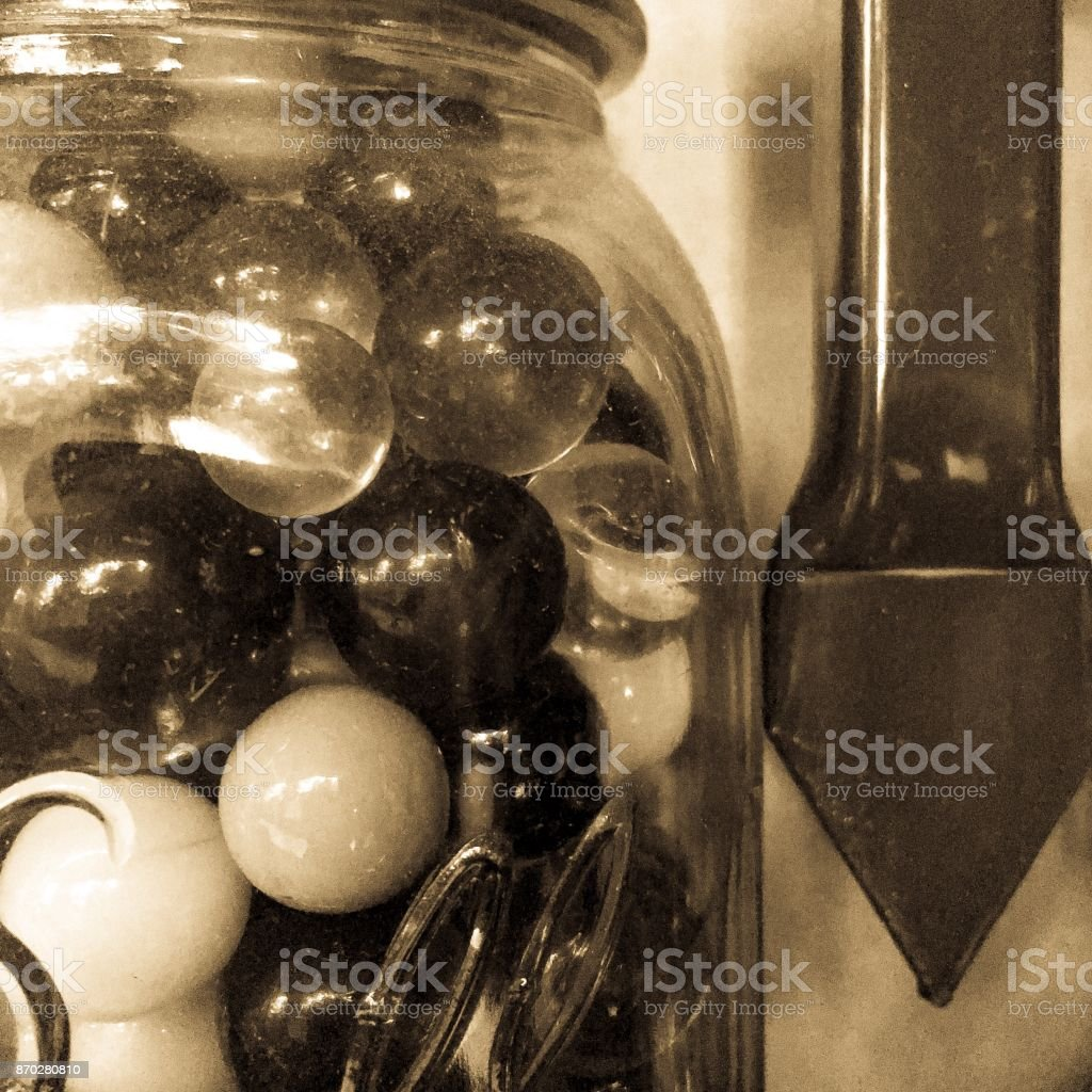 Antique marbles stock photo