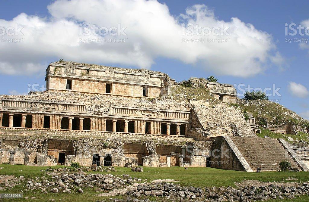 Antique maya ruins stock photo