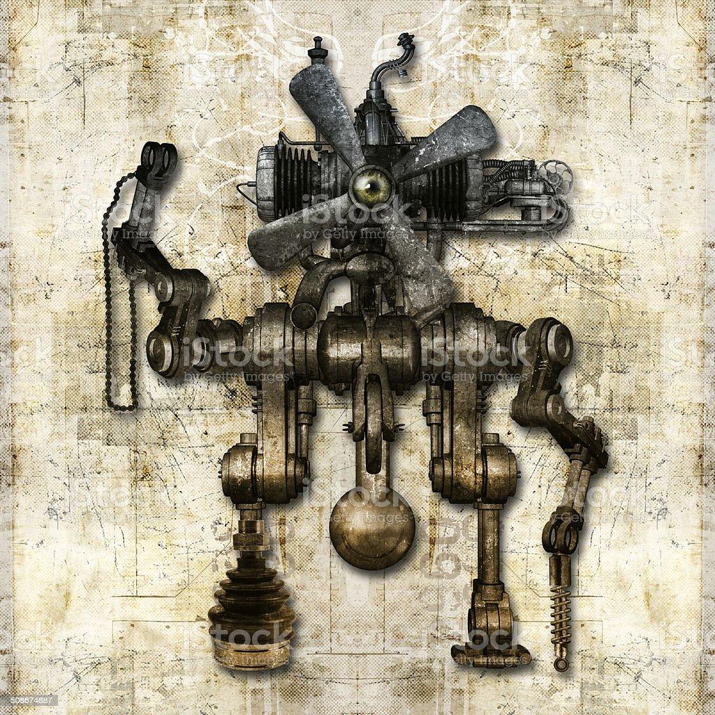 Alte mechanische Abbildung – Foto