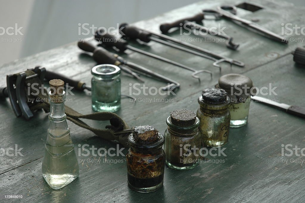 Antique Medical and Dental Equipment royalty-free stock photo