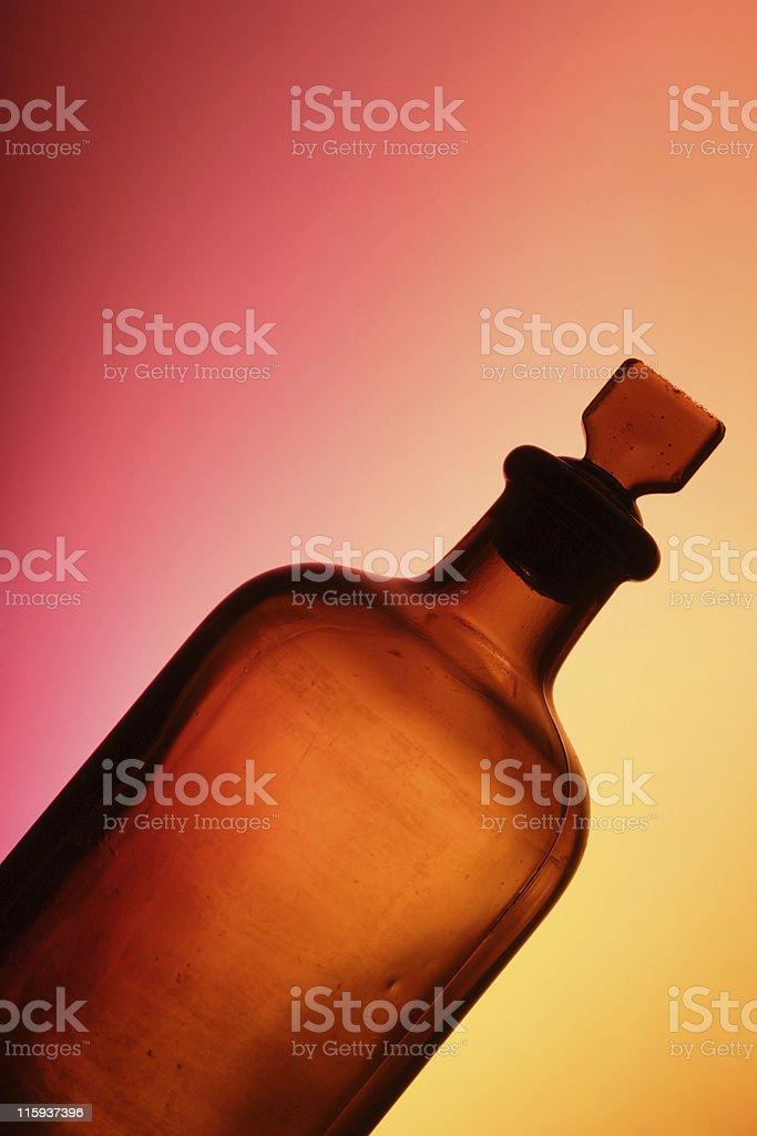 antique medicine bottle royalty-free stock photo
