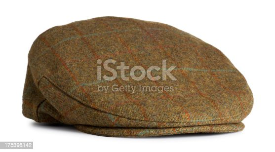 This is a photo of a men's old fashioned felt driver cap. There is a clipping path included with this file.Click on the links below to view lightboxes.