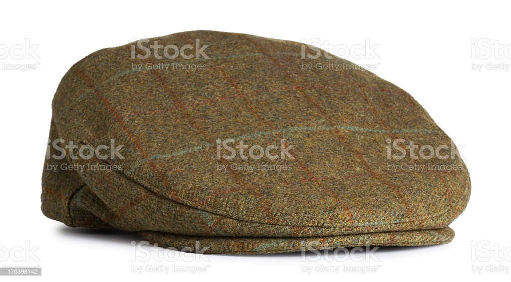 Antique Mens Driver Felt Cap stock photo