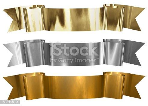 96679072istockphoto Antique Metallic banners 622448200