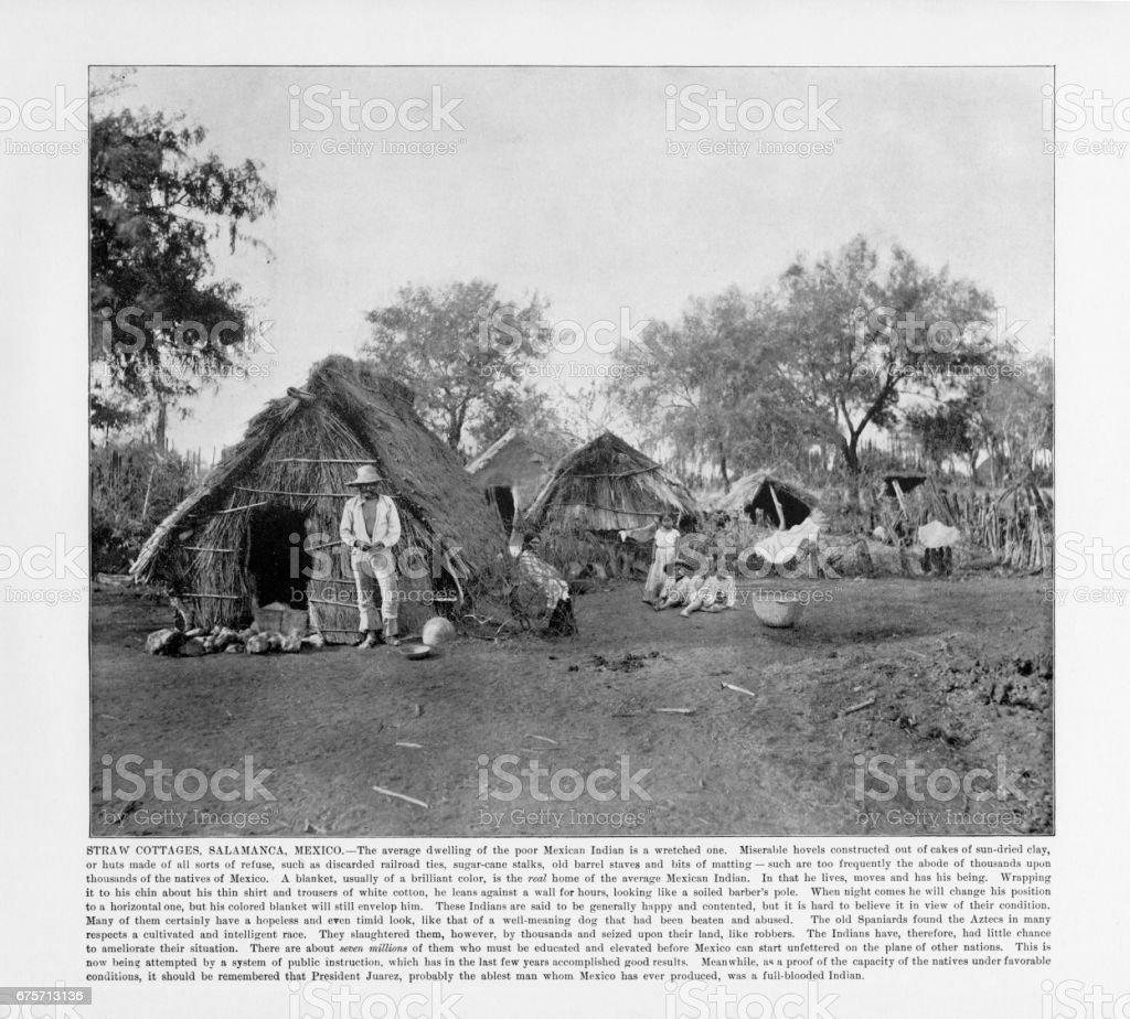 古色古香的墨西哥照片: 秸稈的休閒農莊,薩拉曼卡,墨西哥 1893 免版稅 stock photo