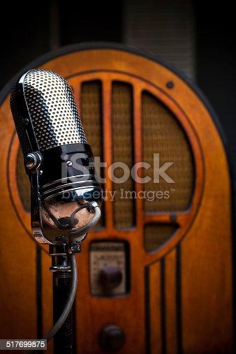 1065736660istockphoto Antique Microphone and Radio 517699875