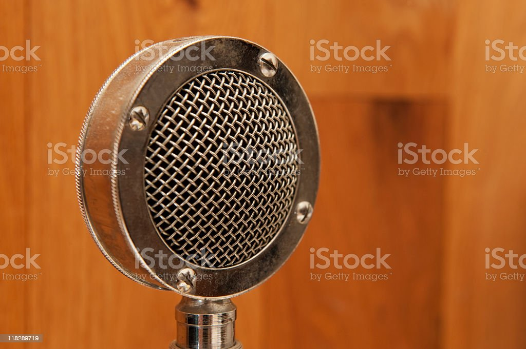 Antique Microphone stock photo