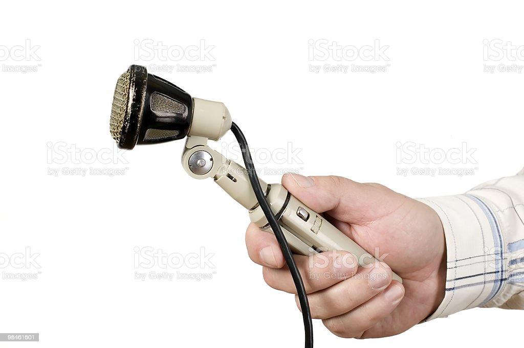 Antico microfono con filo foto stock royalty-free