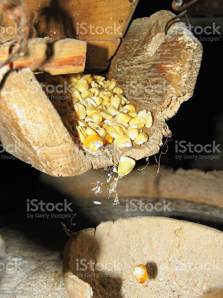 antique mill in work stock photo