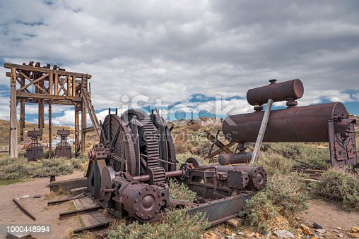 Antique mining equipment in Bodie, California