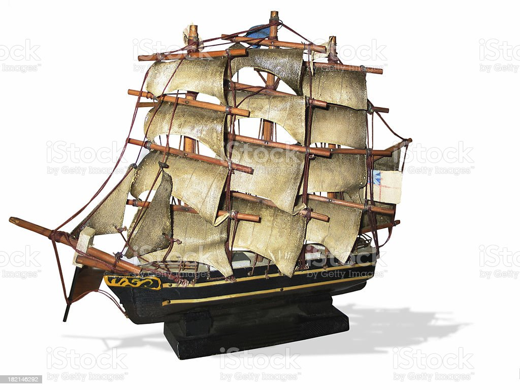 antique model pirate ship royalty-free stock photo