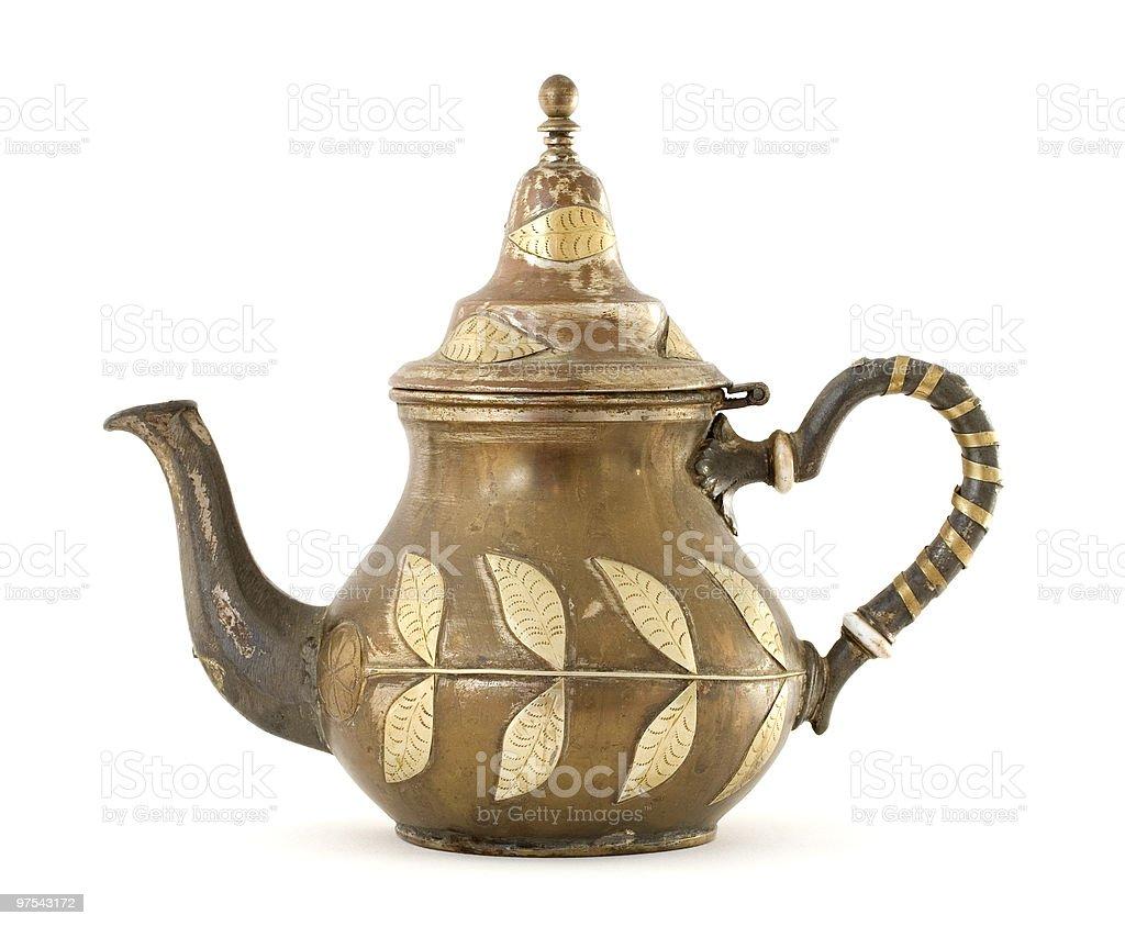 Antique Moroccan teapot royalty-free stock photo