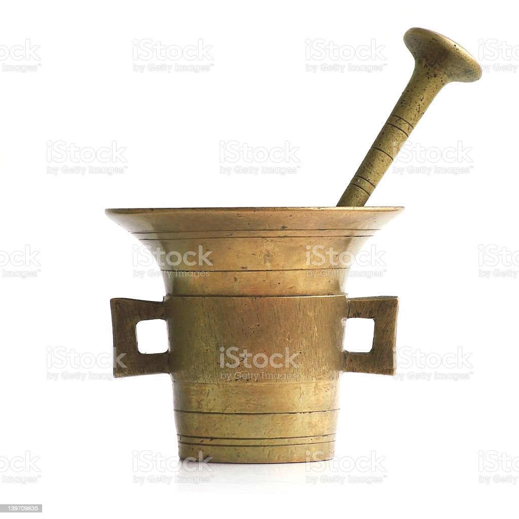 Antique mortar royalty-free stock photo
