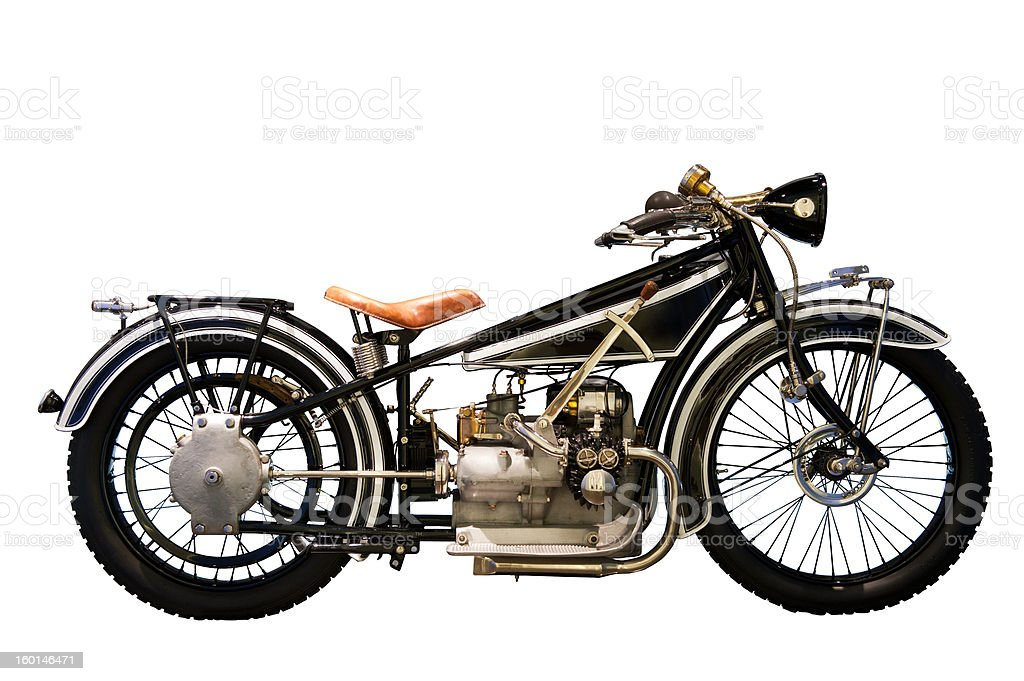 Antique motorcycle stock photo