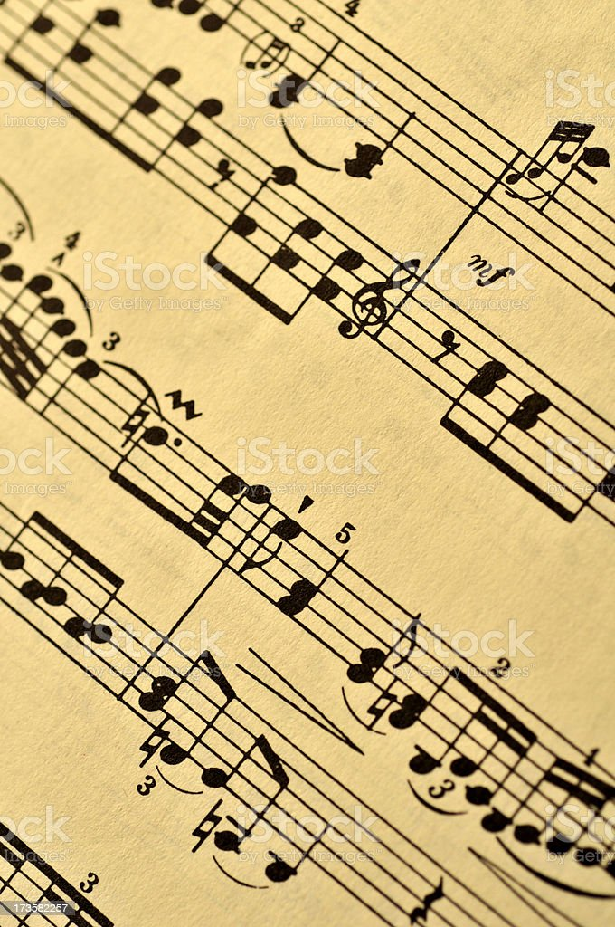 Antique Music Background royalty-free stock photo