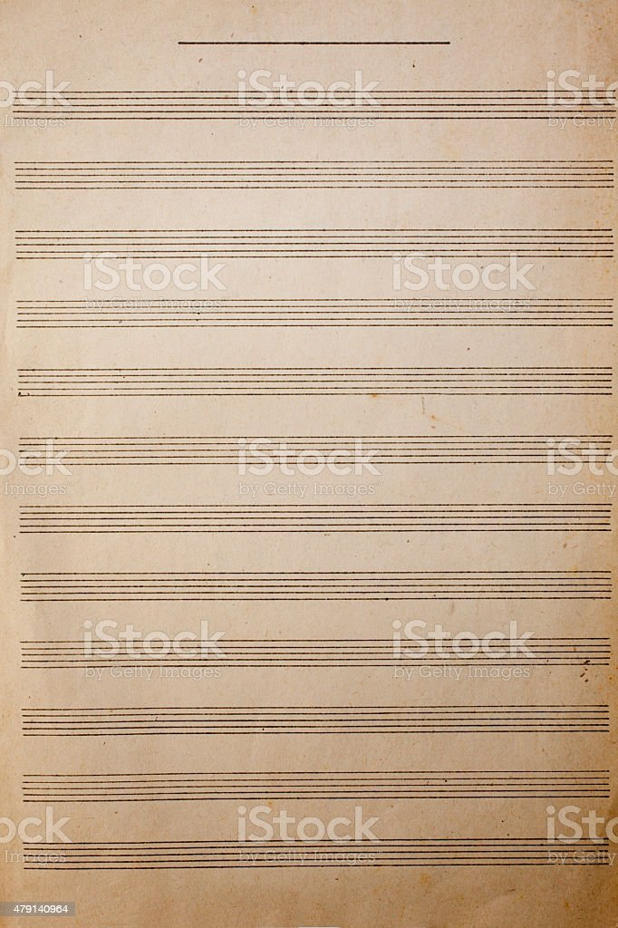 Antique music sheet texture background stock photo