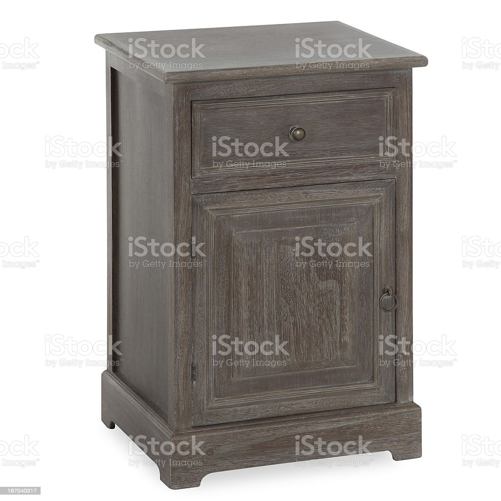 Antique Night Stand Isolated royalty-free stock photo