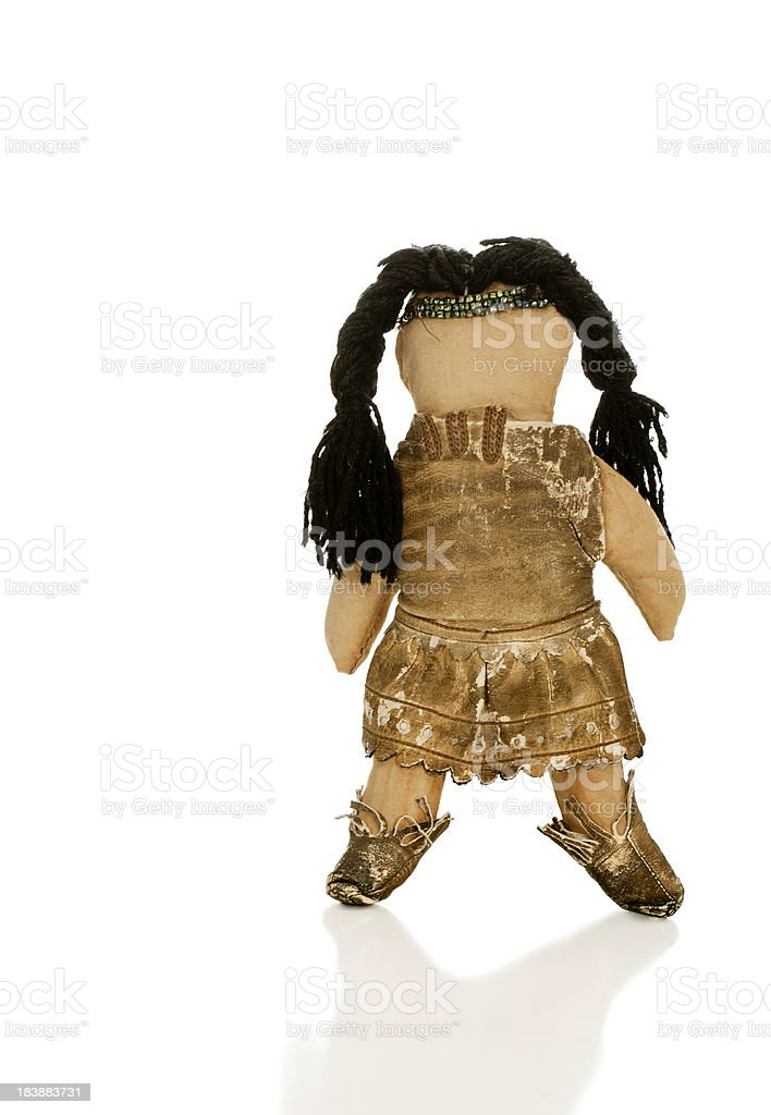 Antique North American Indian Doll royalty-free stock photo