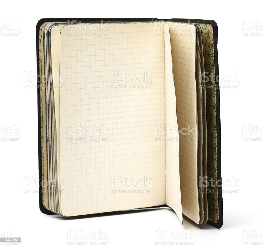 Antique Notebook of 1938's royalty-free stock photo