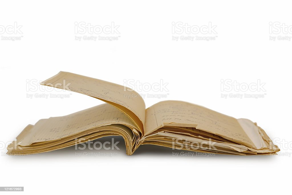 Antic notebook royalty-free stock photo
