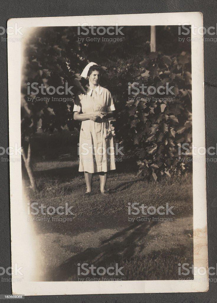 Antique Nurse royalty-free stock photo
