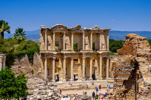 Antique objects and structures in Ephesus close-up, Selcuk, Turkey Antique objects in Ephesus close-up, Selcuk, Turkey ephesus stock pictures, royalty-free photos & images