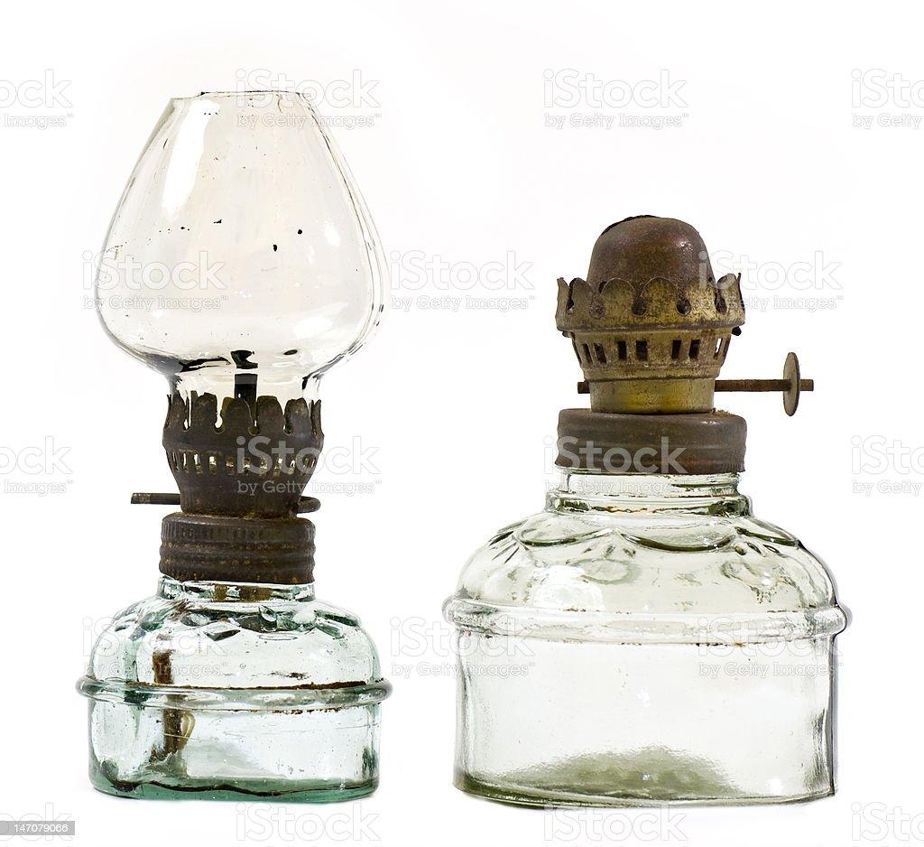 Antique oil lamp stock photo