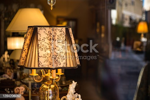 Antique old lamp in an old classic room