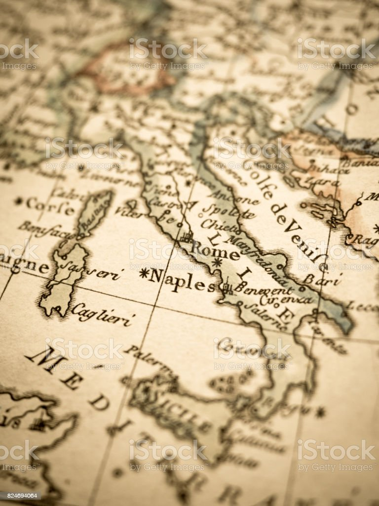 Antique old map stock photo more pictures of 18th century istock antique old map royalty free stock photo gumiabroncs Choice Image