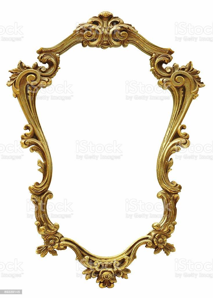 Blattgold Verzierte Golden Antiken Bilderrahmen Stock-Fotografie und ...