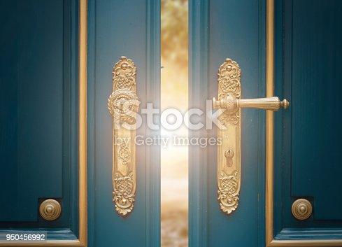 istock antique ornate gold door handle 950456992