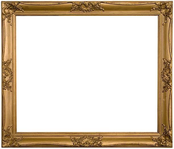 Antique Ornate Gold Frame stock photo
