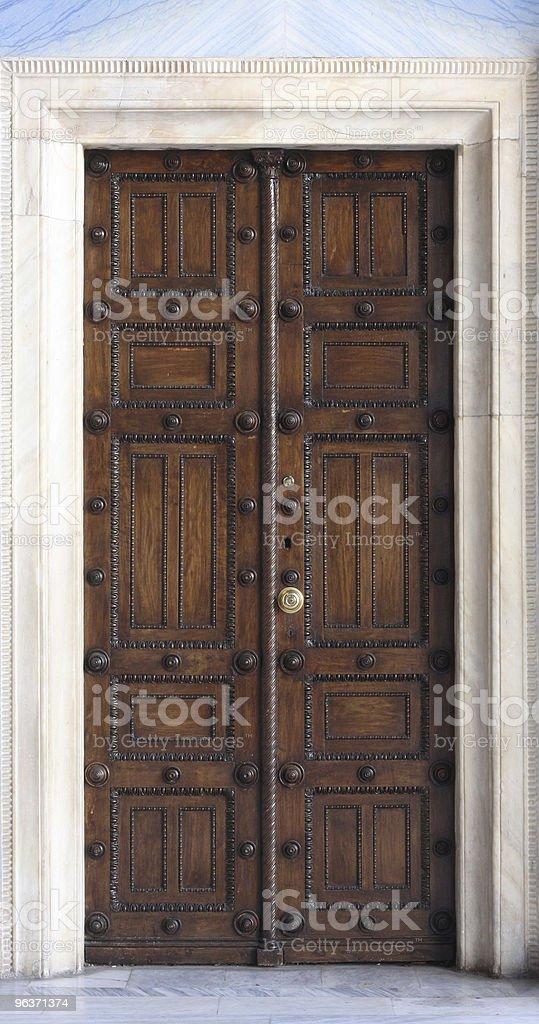 Antique Orthodox Church Door stock photo