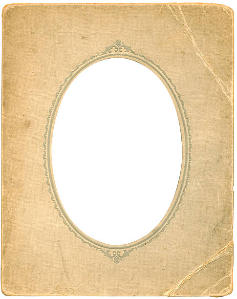 antique oval frame - ellipse stock photos and pictures