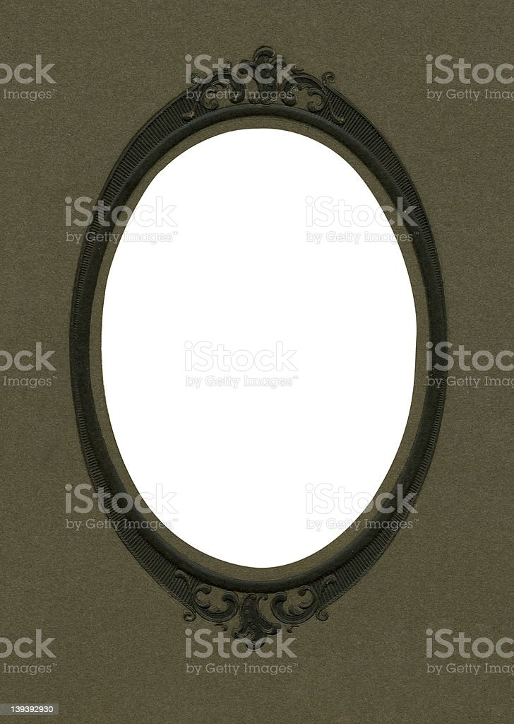 Antique oval photo frame royalty-free stock photo