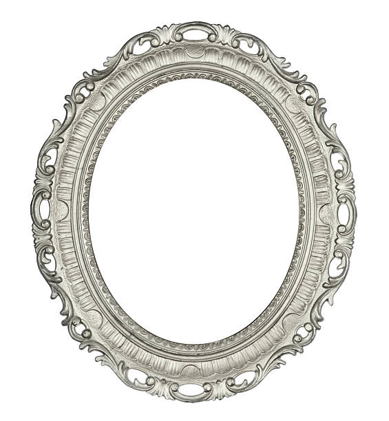 antique oval silver frame - intricacy stock pictures, royalty-free photos & images