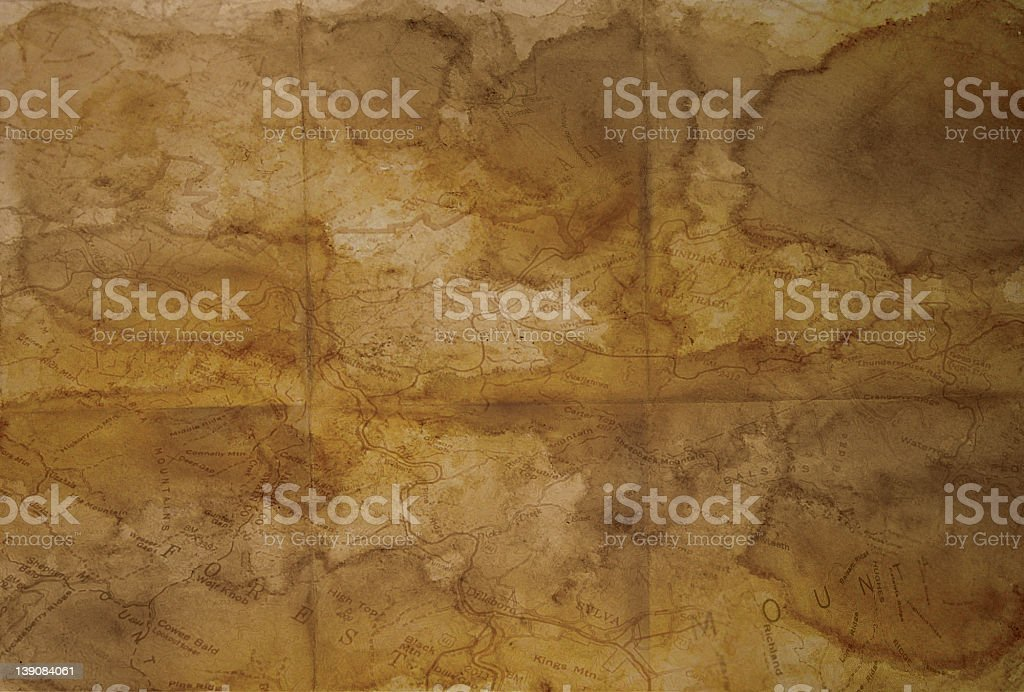 antique paper map royalty-free stock photo