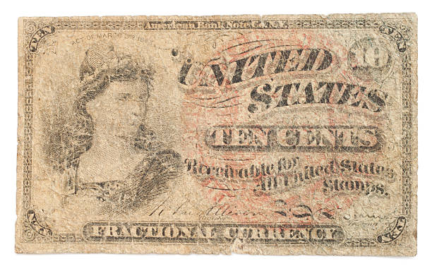 Antique Paper Money stock photo