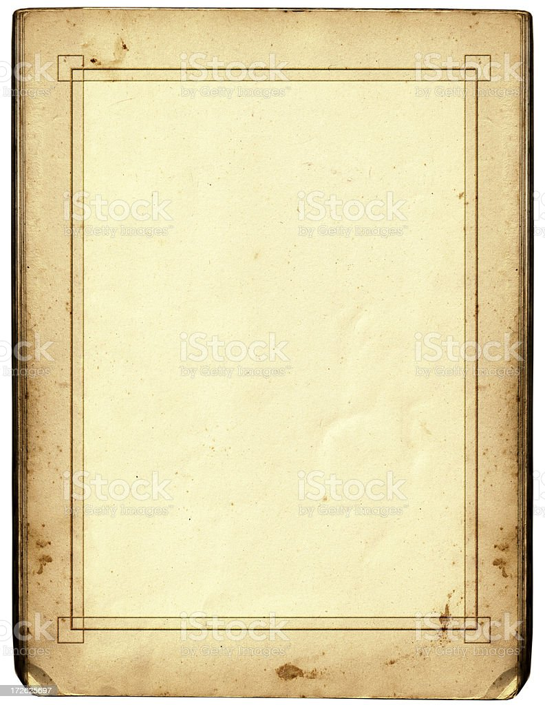 Antique Paper With Fancy Border Stock Photo & More ...