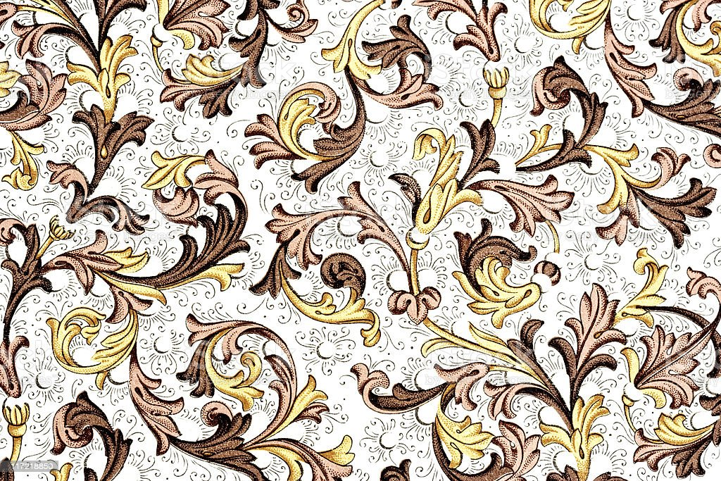 antique paper with floral pattern royalty-free stock photo