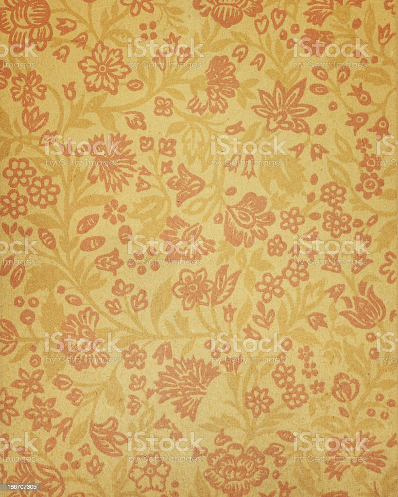 Antique Paper With Floral Pattern Royalty Free Stock Photo
