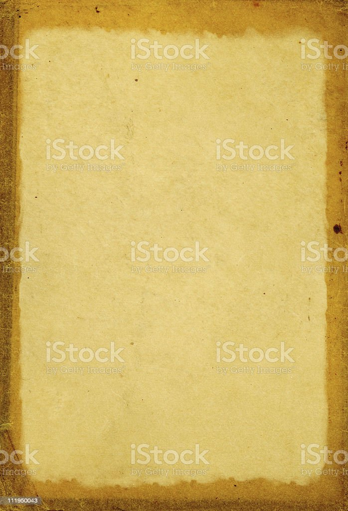 Antique paper with stained edges royalty-free stock photo