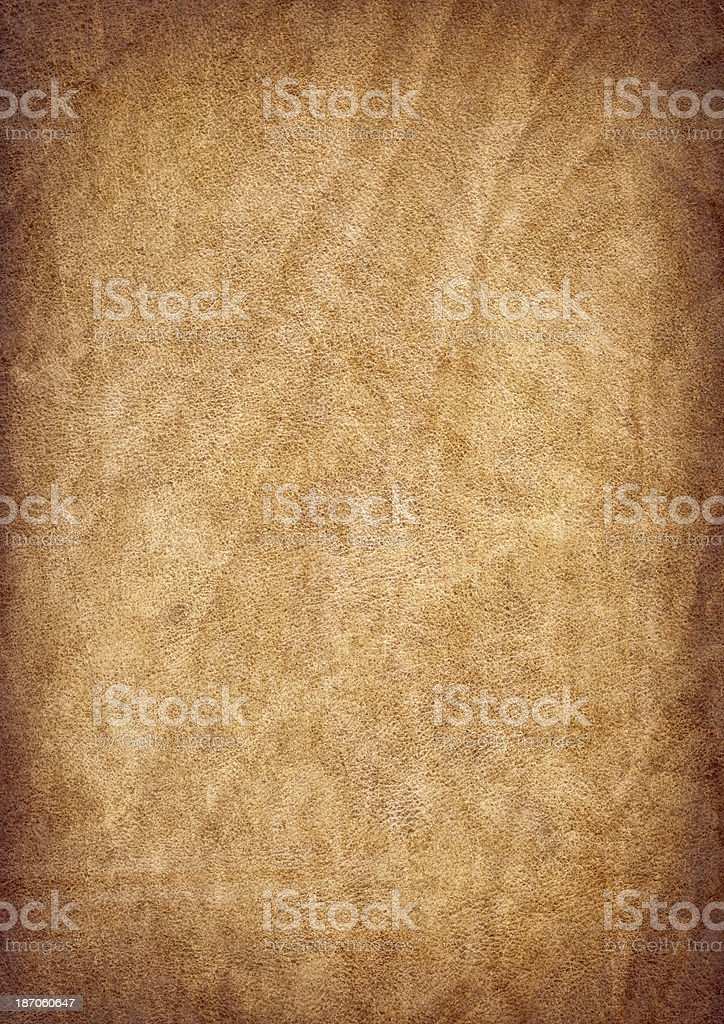 Antique Parchment Crumpled Vignette Grunge Texture stock photo