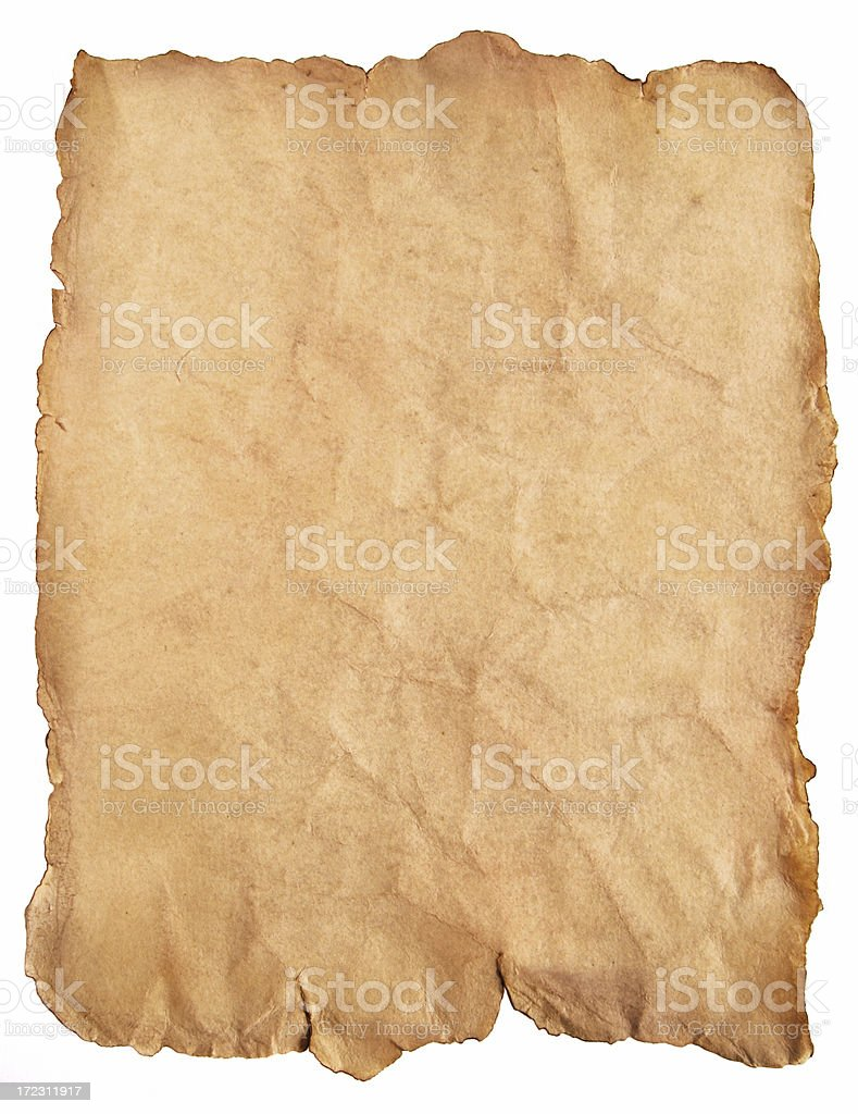 Antique parchment paper royalty-free stock photo