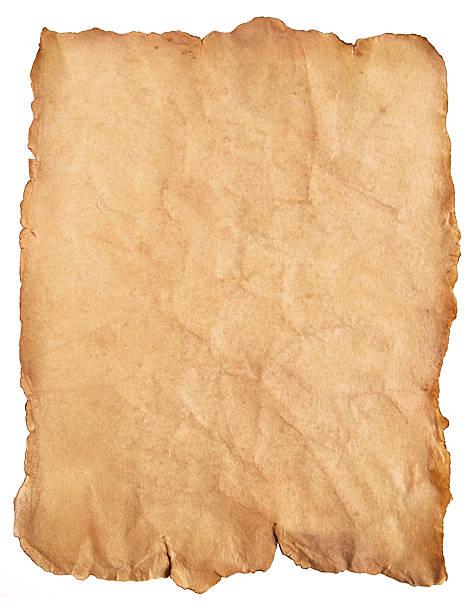 Antique parchment paper stock photo
