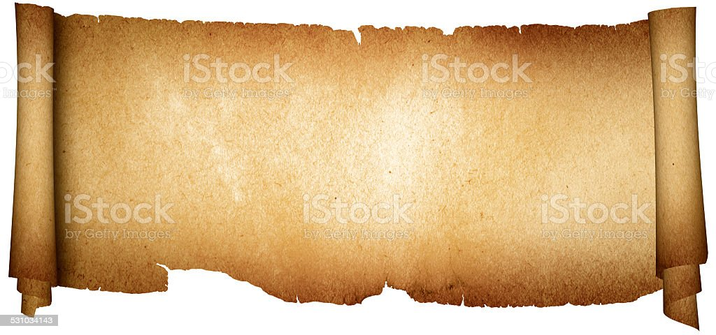 Antique parchment. stock photo